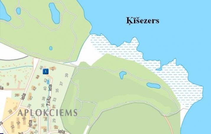 Объявление. Pārdod ekskluzīvu neapbūvētu zemes gabalu Aplokciemā pie Ķīšezera.  Zemes gabals atrodas gleznainā Цена: 153300 EUR Foto #1