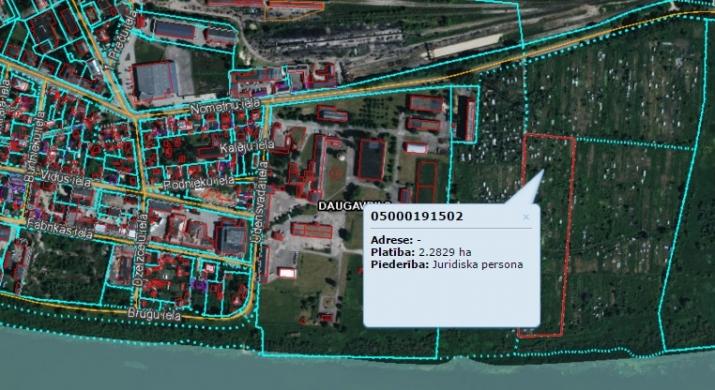 Sludinājumi. Pārdod zemes gabalu 2.28 ha platībā Daugavas krastā. Saskaņā ar attīstības plānu zemes gabals Cena: 25000 EUR Foto #1