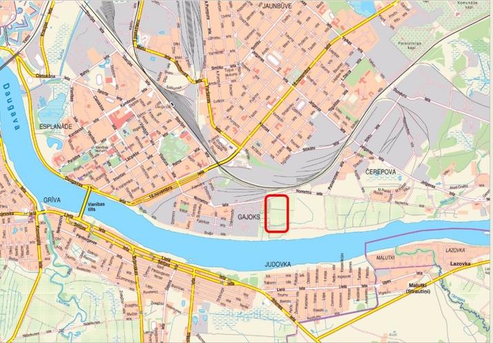 Sludinājumi. Pārdod zemes gabalu 2.28 ha platībā Daugavas krastā. Saskaņā ar attīstības plānu zemes gabals Cena: 25000 EUR Foto #2