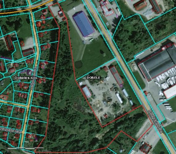 Sludinājumi. Pārdod zames gabalu 4,23ha platībā Dobles pilsētā, uzņēmuma Tenax un Dobeles dzirnavnieks tuvumā. Cena: 211000 EUR Foto #1