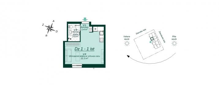 Sludinājumi. Pārdod vienistabas dzīvoklīti Jaunajā projektā.   Dzīvoklis atrodas nama pirmajā stāvā, ar logiem Cena: 55000 EUR Foto #3