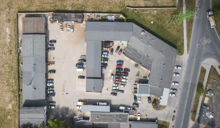 Sludinājumi. Ražošanas, darbnīcu un autoservisa telpas Viskaļu ielā 22.  + Telpas ir labi redzamas no ielas, Cena: 990000 EUR Foto #3