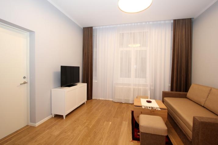 Объявление. Предлагаем недавно отремонтированную квартиру-студию в центре Риги. Квартира оборудована мебелью и Цена: 420 EUR/мес. Foto #5