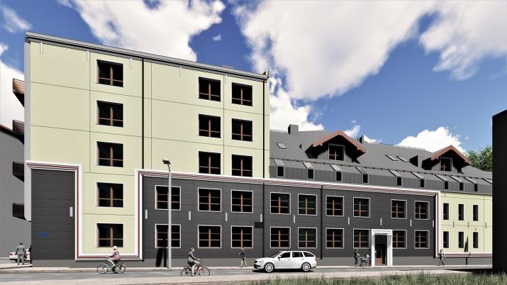 Объявление. Доступно для бронирования! Квартира в новом проекте City Home, расположенном на углу улиц Миера и Цена: 85500 EUR Foto #2
