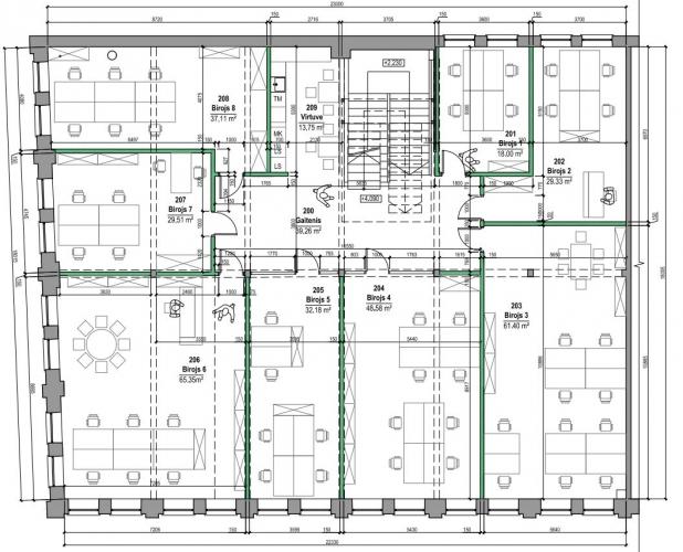 Объявление. Jauni, moderni biroji Vef\'ā.  Renovētas, saulainas biroju telpas tieši starp Centru un Teiku.   Цена: 384 EUR/мес. Foto #3