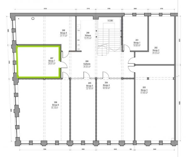 Объявление. Jauni, moderni biroji Vef\'ā.  Renovētas, saulainas biroju telpas tieši starp Centru un Teiku.   Цена: 384 EUR/мес. Foto #2
