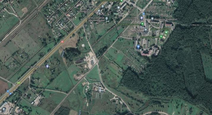 Объявление. Продается ухоженный земельный участок у поселка Jaunolaine  Площадь: 10900м   Разрешено деление Цена: 34000 EUR Foto #2