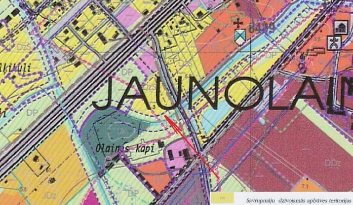 Объявление. Продается ухоженный земельный участок у поселка Jaunolaine  Площадь: 10900м   Разрешено деление Цена: 34000 EUR Foto #4